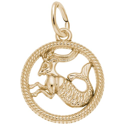 Gold Plated Capricorn Zodiac Charm by Rembrandt Charms