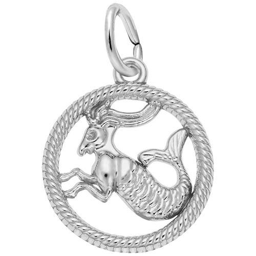 14k White Gold Capricorn Zodiac Charm by Rembrandt Charms