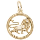 Gold Plated Leo Zodiac Charm by Rembrandt Charms