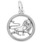 Sterling Silver Leo Zodiac Charm by Rembrandt Charms