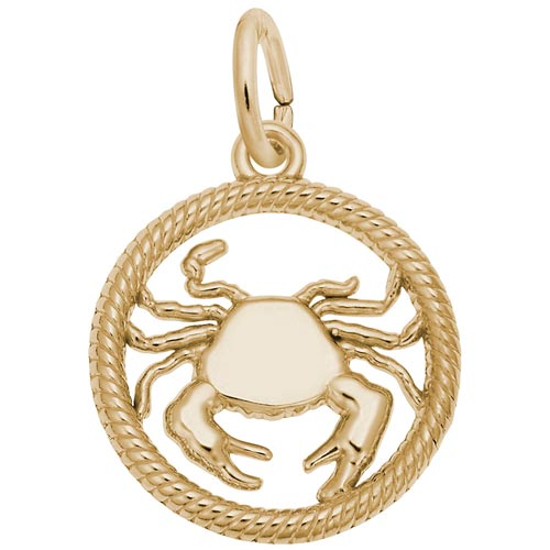 10k Gold Cancer Zodiac Charm by Rembrandt Charms