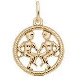 14k Gold Gemini Zodiac Charm by Rembrandt Charms