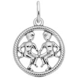 Sterling Silver Gemini Zodiac Charm by Rembrandt Charms