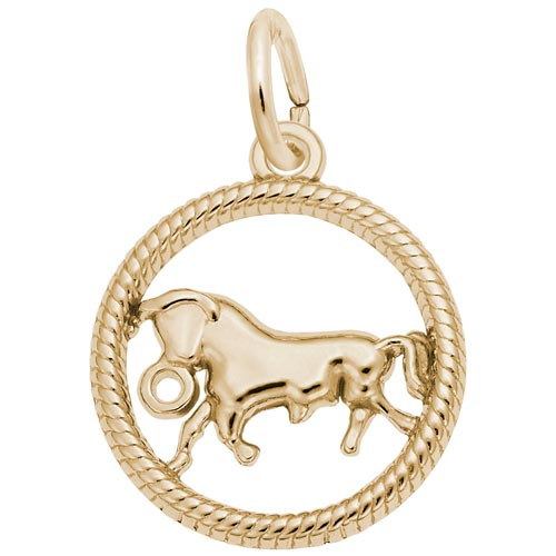 14k Gold Taurus Zodiac Charm by Rembrandt Charms
