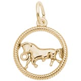 10k Gold Taurus Zodiac Charm by Rembrandt Charms