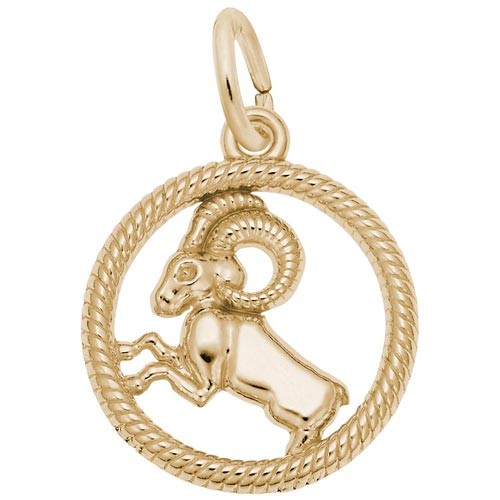 14k Gold Aries Zodiac Charm by Rembrandt Charms
