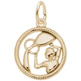 10k Gold Aquarius Zodiac Charm by Rembrandt Charms