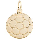 Gold Plated Soccer Ball Charm by Rembrandt Charms