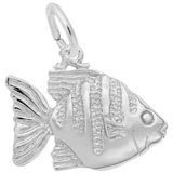 Sterling Silver Angelfish Charm by Rembrandt Charms