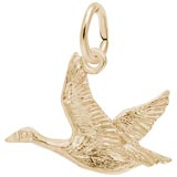 Gold Plated Canada Goose Charm by Rembrandt Charms