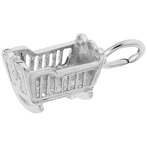 Sterling Silver Baby Cradle Charm by Rembrandt Charms