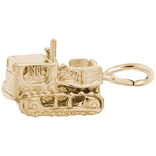 10K Gold Bulldozer Charm by Rembrandt Charms