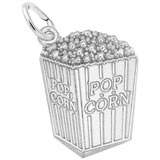 14K White Gold Popcorn Charm by Rembrandt Charms