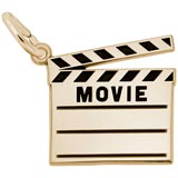 Gold Plated Movie Clap Board Charm by Rembrandt Charms