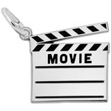 Sterling Silver Movie Clap Board Charm by Rembrandt Charms