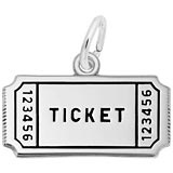 14K White Gold Movie Ticket Charm by Rembrandt Charms
