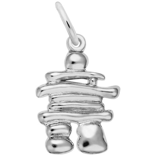 14K White Gold Inukshuk Charm by Rembrandt Charms