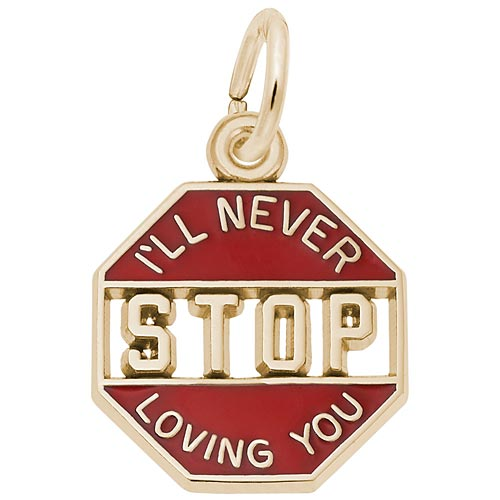 14K Gold I'll Never Stop Loving You Charm by Rembrandt Charms