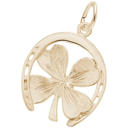 14K Gold Good Luck Charm by Rembrandt Charm