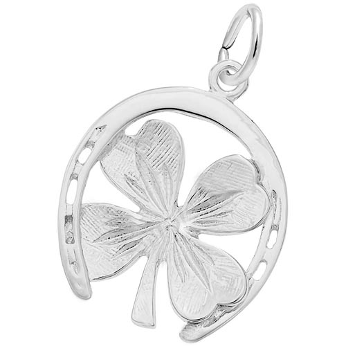 14K White Gold Good Luck Charm by Rembrandt Charm
