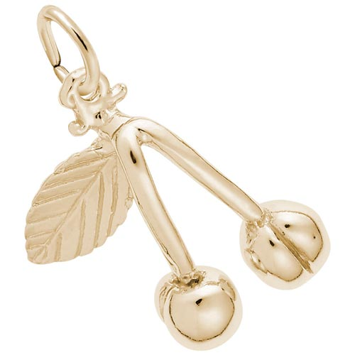 14K Gold Cherries Charm by Rembrandt Charms