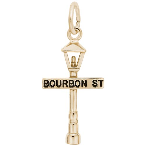 14K Gold Bourbon Street Lamp Charm by Rembrandt Charms