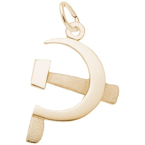 Gold Plated Hammer and Sickle Charm by Rembrandt Charms