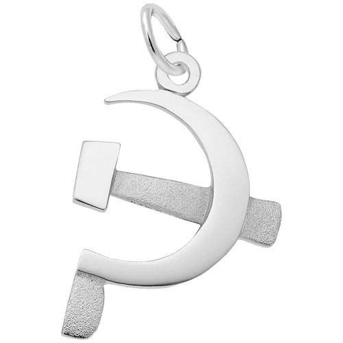 14k White Gold Hammer and Sickle Charm by Rembrandt Charms