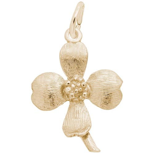 14K Gold Dogwood Charm by Rembrandt Charms