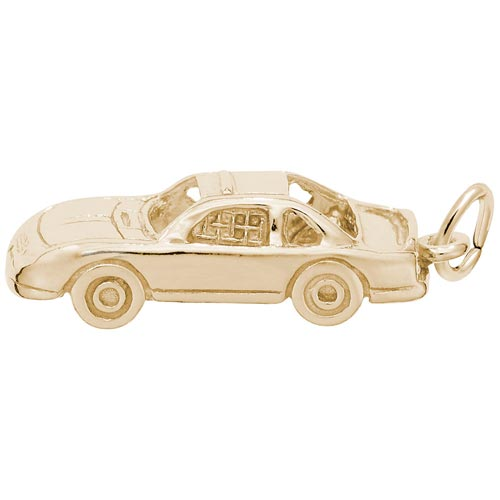 Gold Plated Race Car Charm by Rembrandt Charms