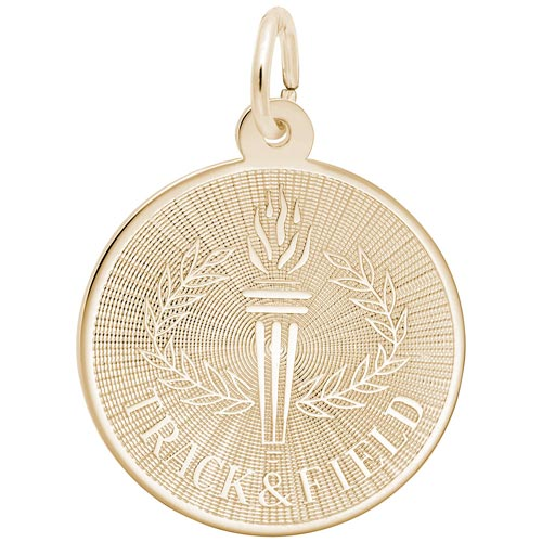 14K Gold Track and Field Charm by Rembrandt Charms