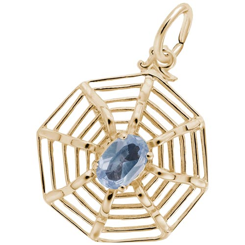 14K Gold Spider Web Charm by Rembrandt Charms