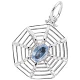 14K White Gold Spider Web Charm by Rembrandt Charms
