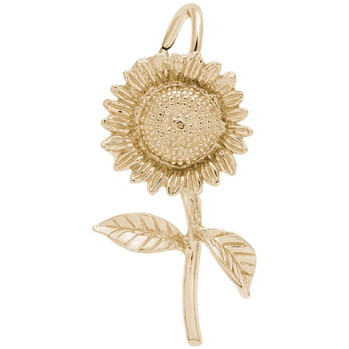 14K Gold Sunflower Charm by Rembrandt Charms