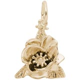 Gold Plate Magnolia Flower Charm by Rembrandt Charms