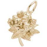 Gold Plated Azalea Flower Charm by Rembrandt Charms