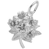 14K White Gold Azalea Flower Charm by Rembrandt Charms