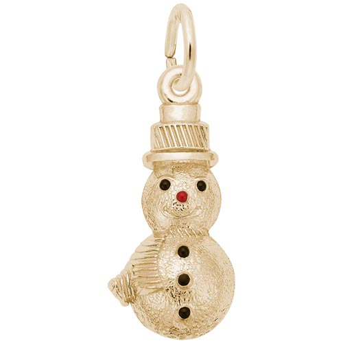 14K Gold Snowman Charm by Rembrandt Charms