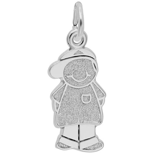 Sterling Silver Boy in Ball Cap Charm by Rembrandt Charms