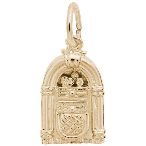 14K Gold Juke Box Charm by Rembrandt Charms