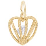 Gold Plated Embrace Love Charm 04 April by Rembrandt Charms