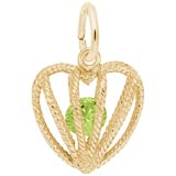 Gold Plated Embrace Love Charm 08 August by Rembrandt Charms