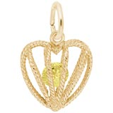 Gold Plated Embrace Love Charm 11 November by Rembrandt Charms