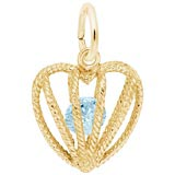 Gold Plated Embrace Love Charm 03 March by Rembrandt Charms
