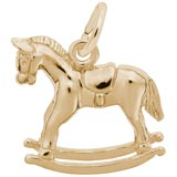 Gold Plated Rocking Horse Charm by Rembrandt Charms