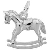 14K White Gold Rocking Horse Charm by Rembrandt Charms