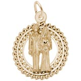 Gold Plate Bride and Groom Charm by Rembrandt Charms