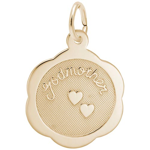 Gold Plated Godmother Charm by Rembrandt Charms