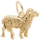 14K Gold Sheep Charm by Rembrandt Charms