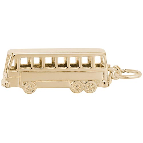 10K Gold Bus Charm by Rembrandt Charms